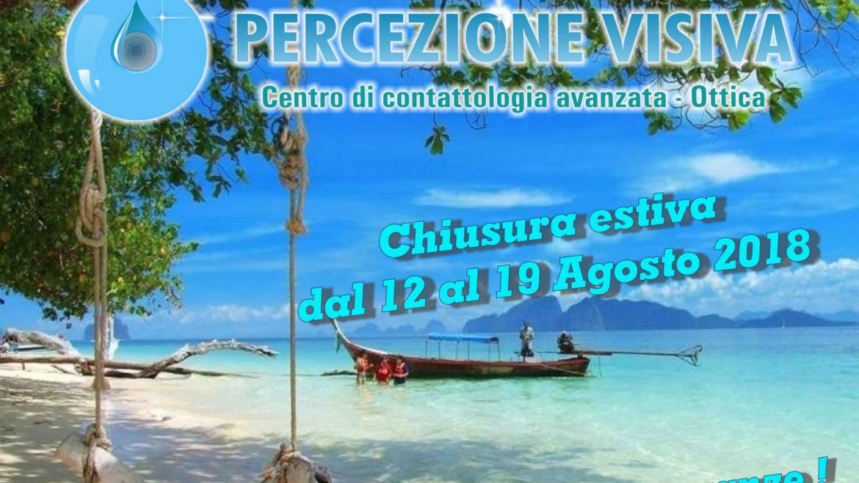 Vacanze estive: chiusura dal 12 al 19 agosto