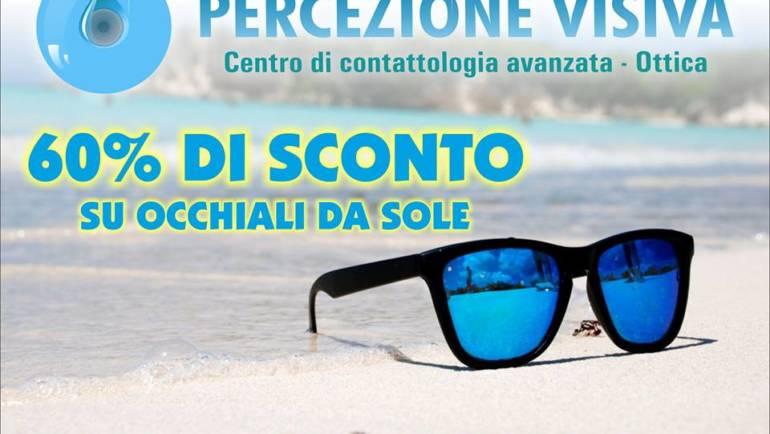 Con l'arrivo dell'estate 60% di sconto sugli occhiali da sole