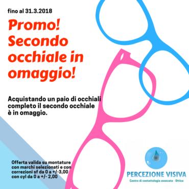 Promo marzo: operazione secondo occhiale omaggio.