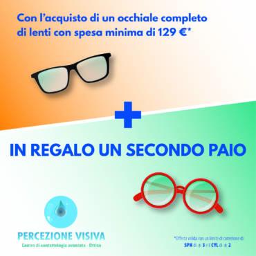 Promozione in regalo secondo paio di occhiali